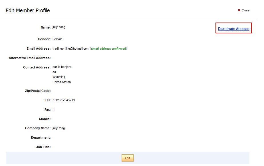 Удаление профиля покупателя с сайта Aliexpress.com