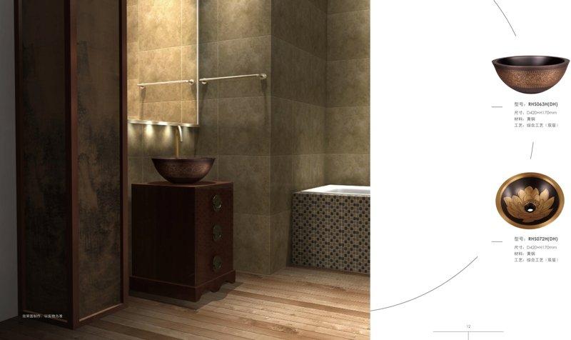 bagno di rame lavello-Lavelli del bagno-Id prodotto:313980591-italian ...
