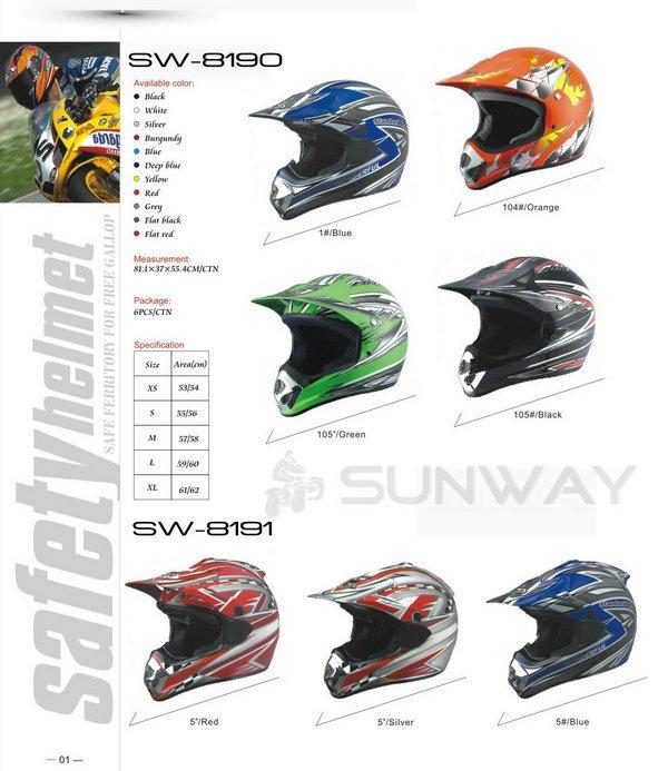 ATV Helmets/Off-Road Helmets/Motorcycle Helmets