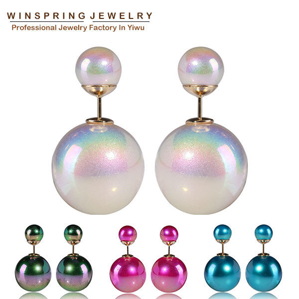 2014 Colorful Pearl Earrings 4Colors Cheap High Qu...