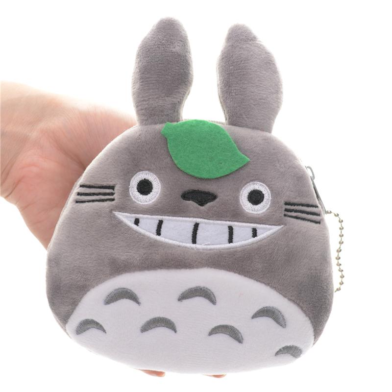 Funny My Neighbor Totoro Plush Round Girls Cartoon Coin Purse Wallet 5*5\'\' New Free Shipping #LN